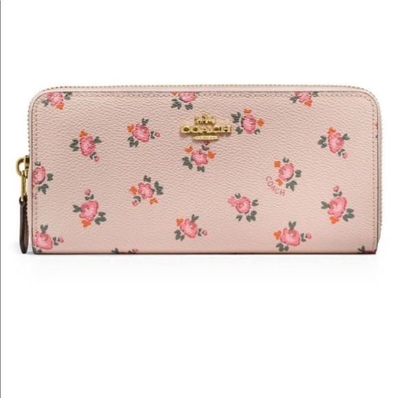 Coach Bags   Nwt Floral Bloom Print Slim Accordion Zip Wallet   Poshmark e164c66934